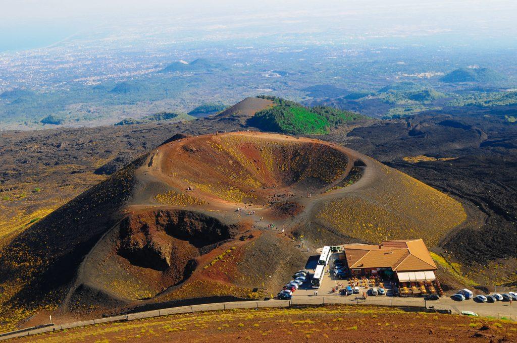 Krater Silvestri van de Etna vulkaan