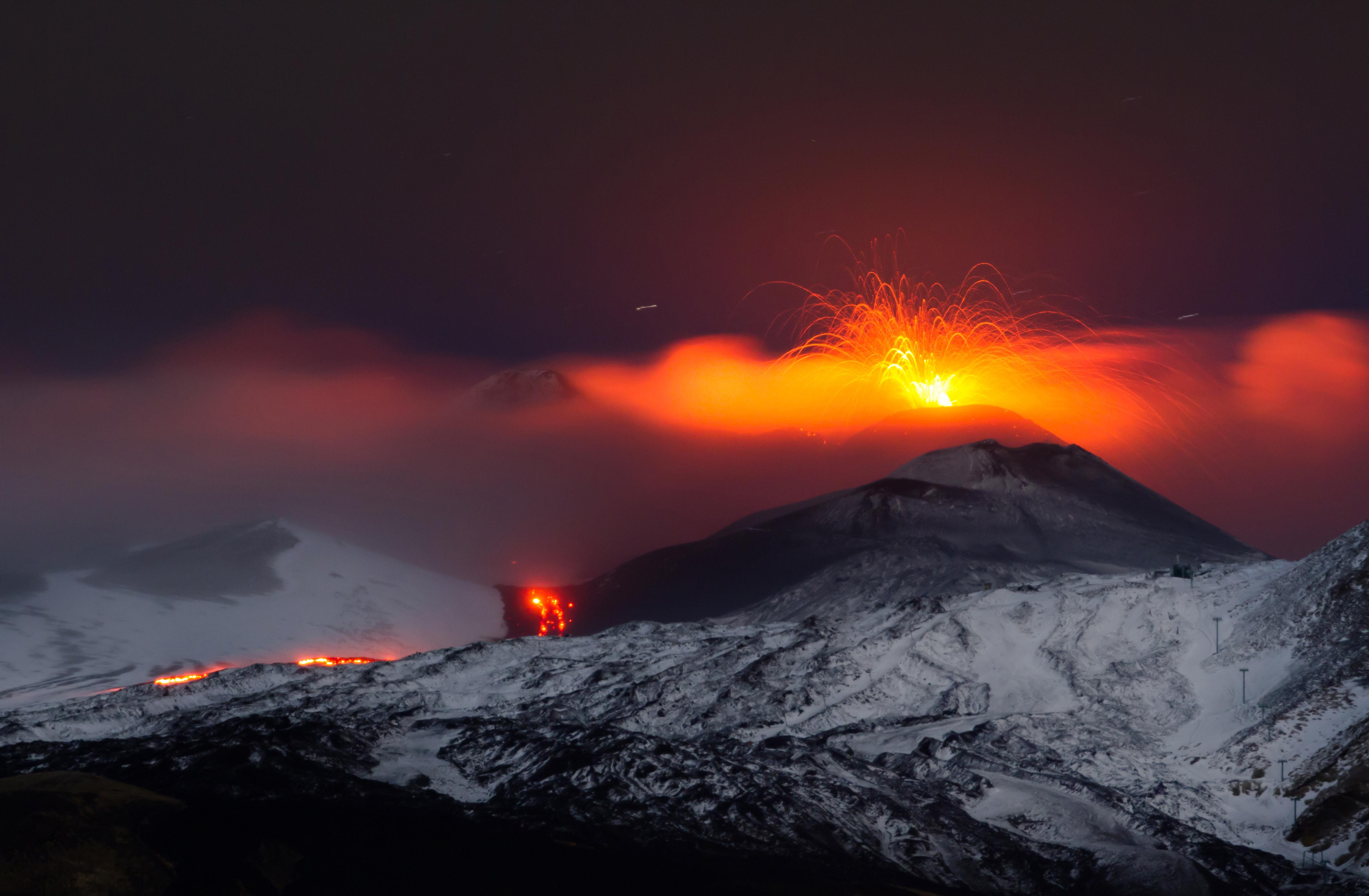 Etna vulkaan uitbarsting