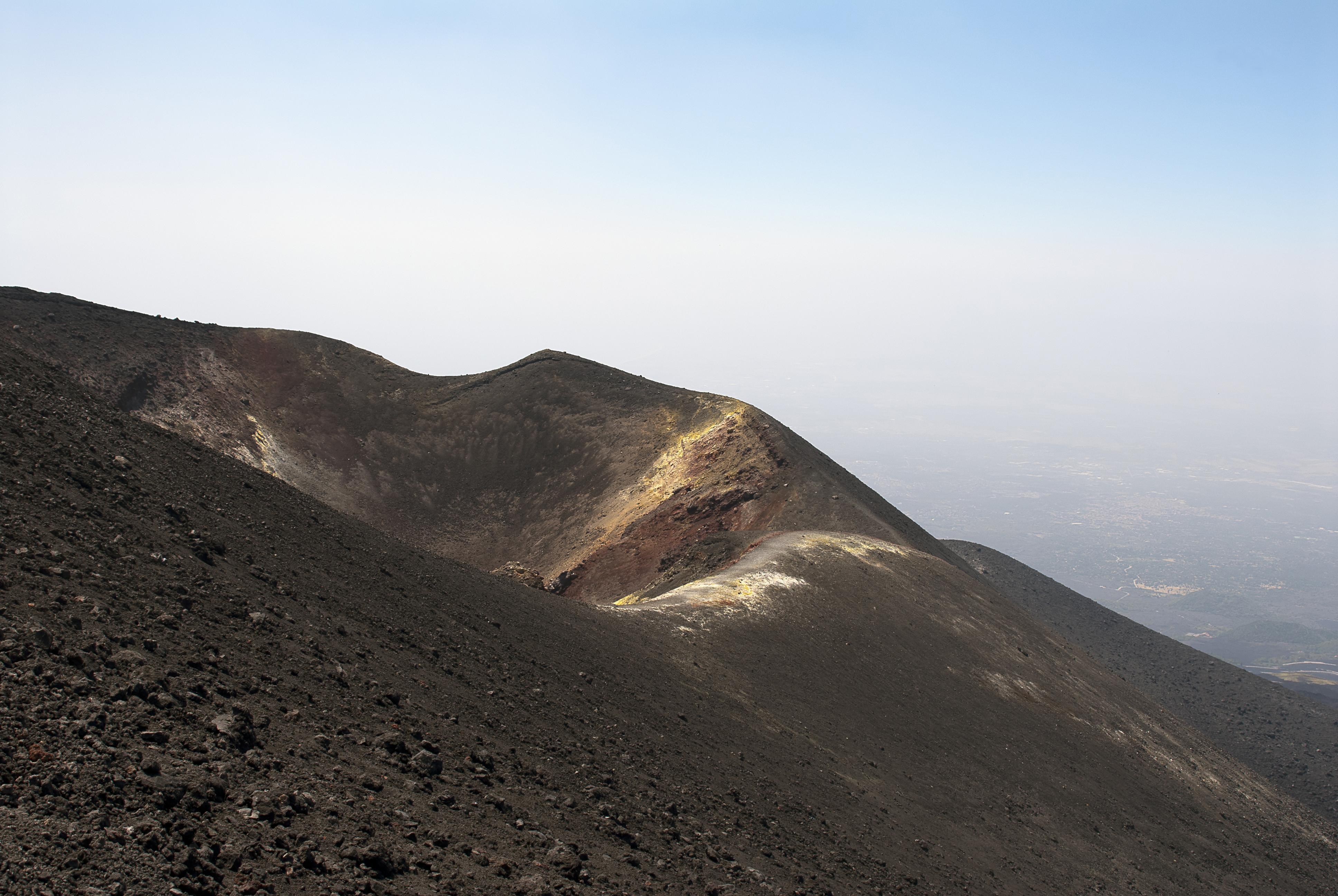 Bocca nuova krater op de Etna