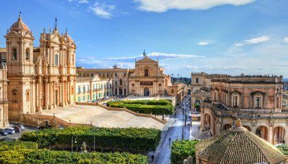 Uitzicht op Noto, Sicilië