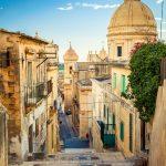 Straat Noto Sicilië