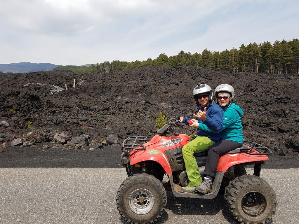 Quad rijden op de Etna vulkaan