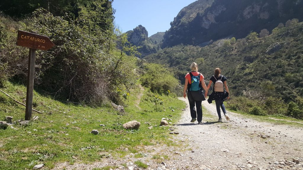 Bewegwijzering wandeling Cascata del Catafurco