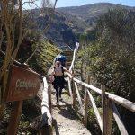 Bruggetje en trappen naar de waterval