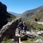 Wij op de rotsen bij Catafurco middenin de natuur