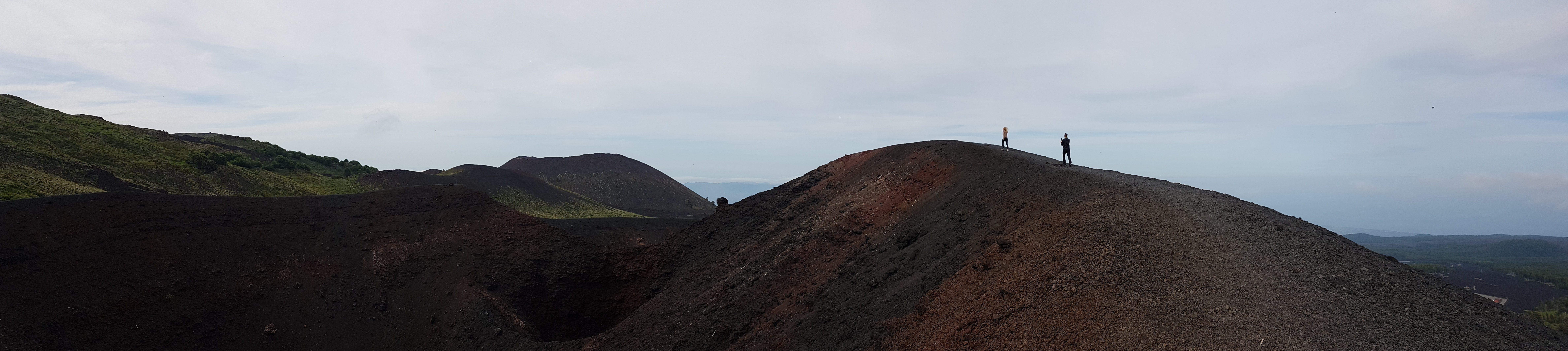 Panoramische foto Etna kraters 2002