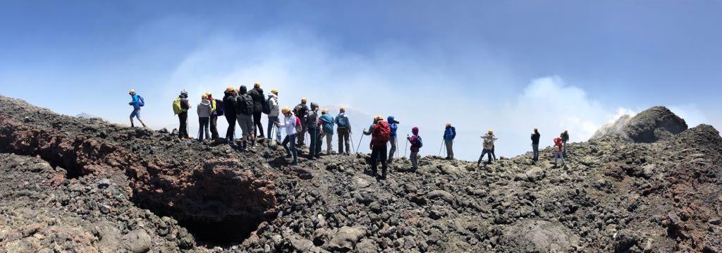 Wandeling Etna top krater