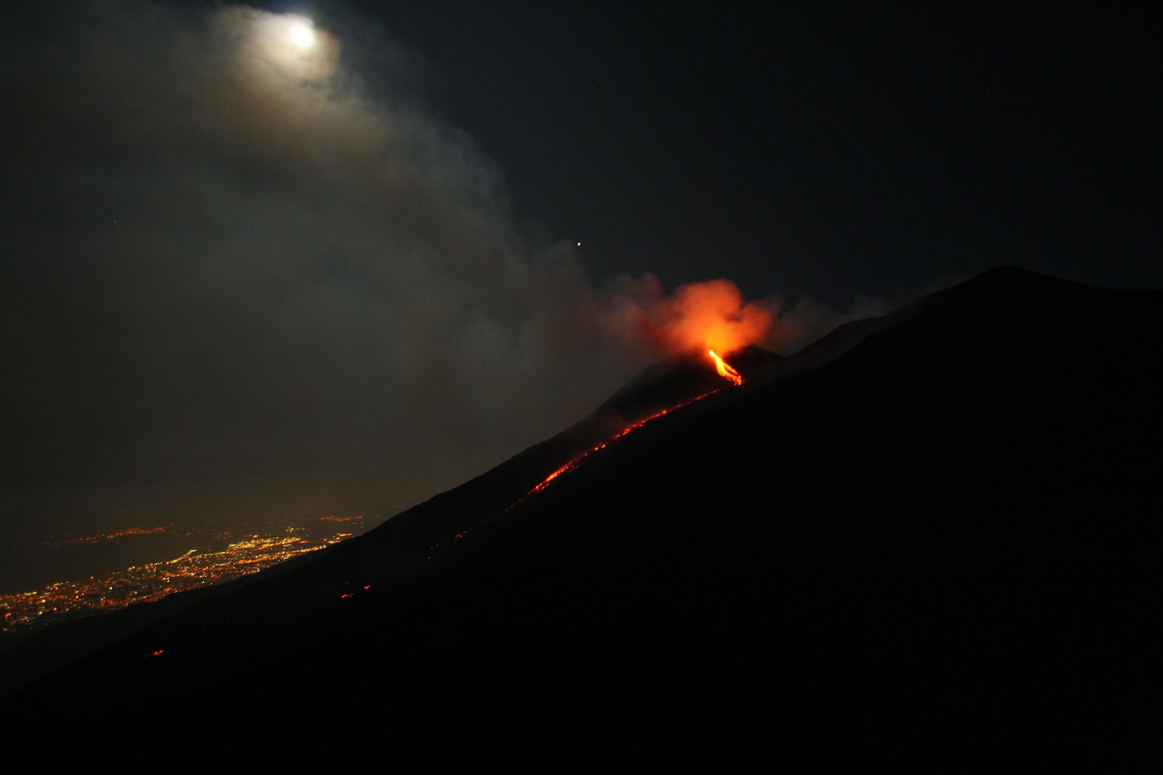 Uitbarsting Etna vulkaan augustus 2018