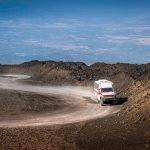 Offroad bus naar de top van de Etna vulkaan