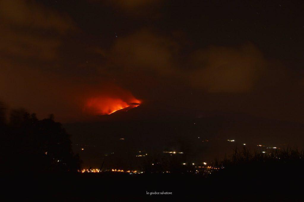 Uitbarsting Etna Vulkaan 30/05/2019