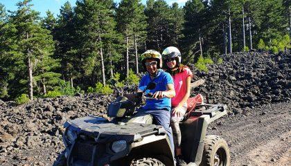 Quad rijden Etna vulkaan met kinderen