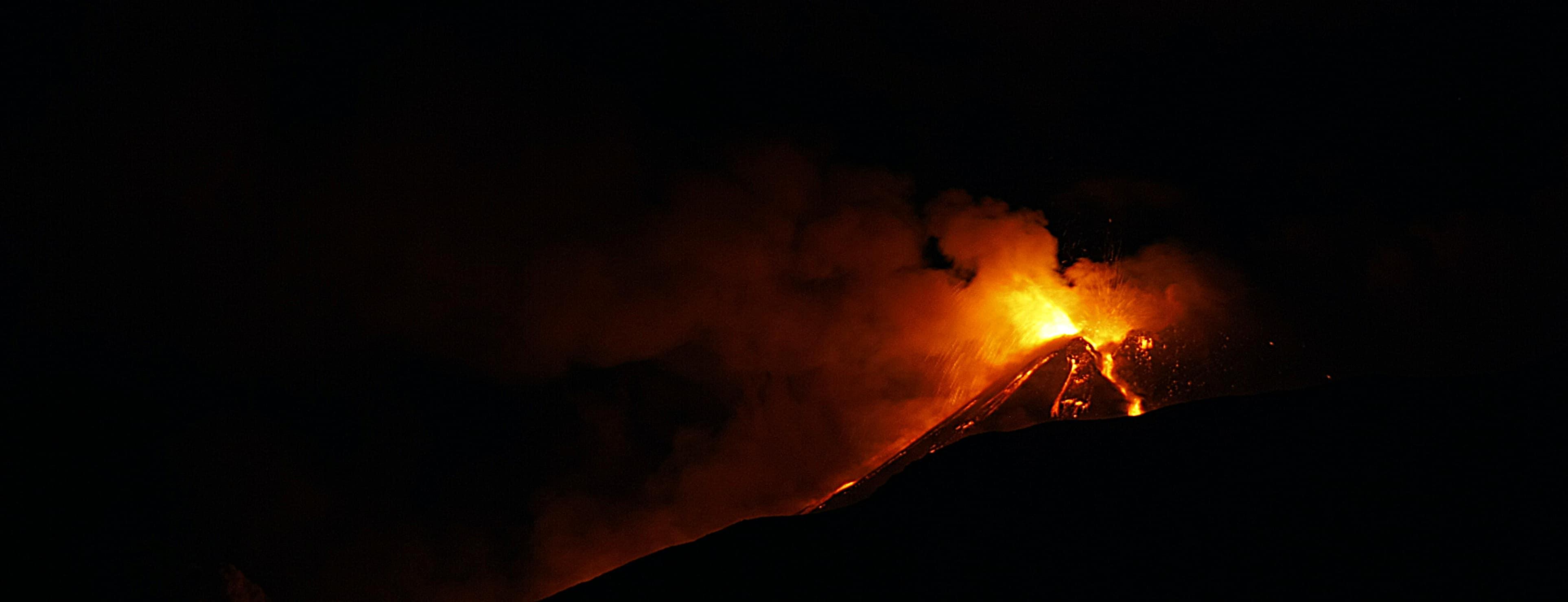 Uitbarsting Etna vulkaan 18 januari 2021