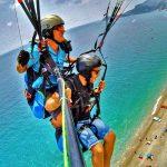 Paragliden Letojanni zee strand