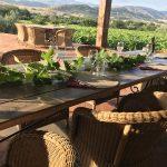Terras uitzicht bergen Sicilië