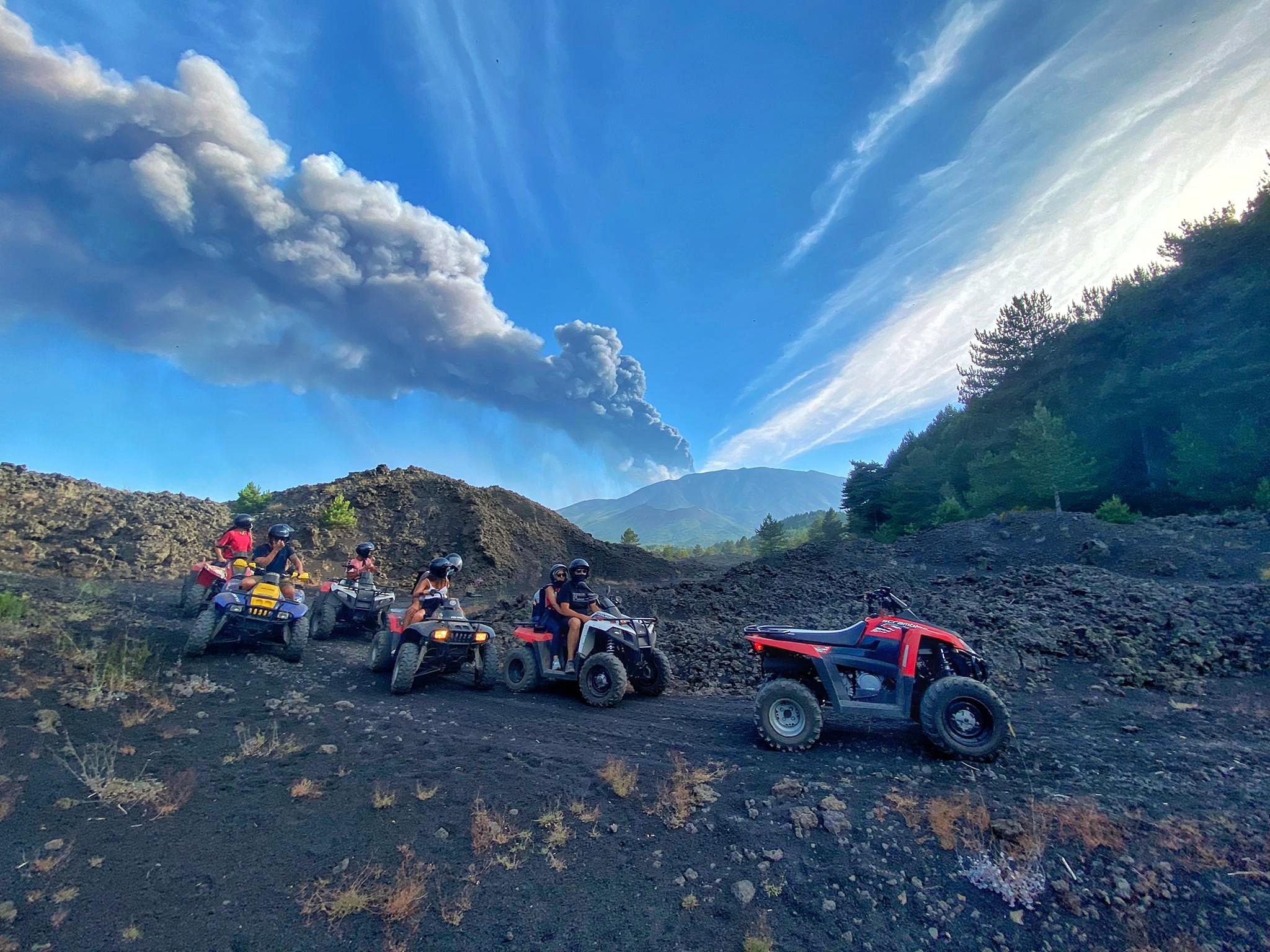 Uitbarsting Etna quad tour
