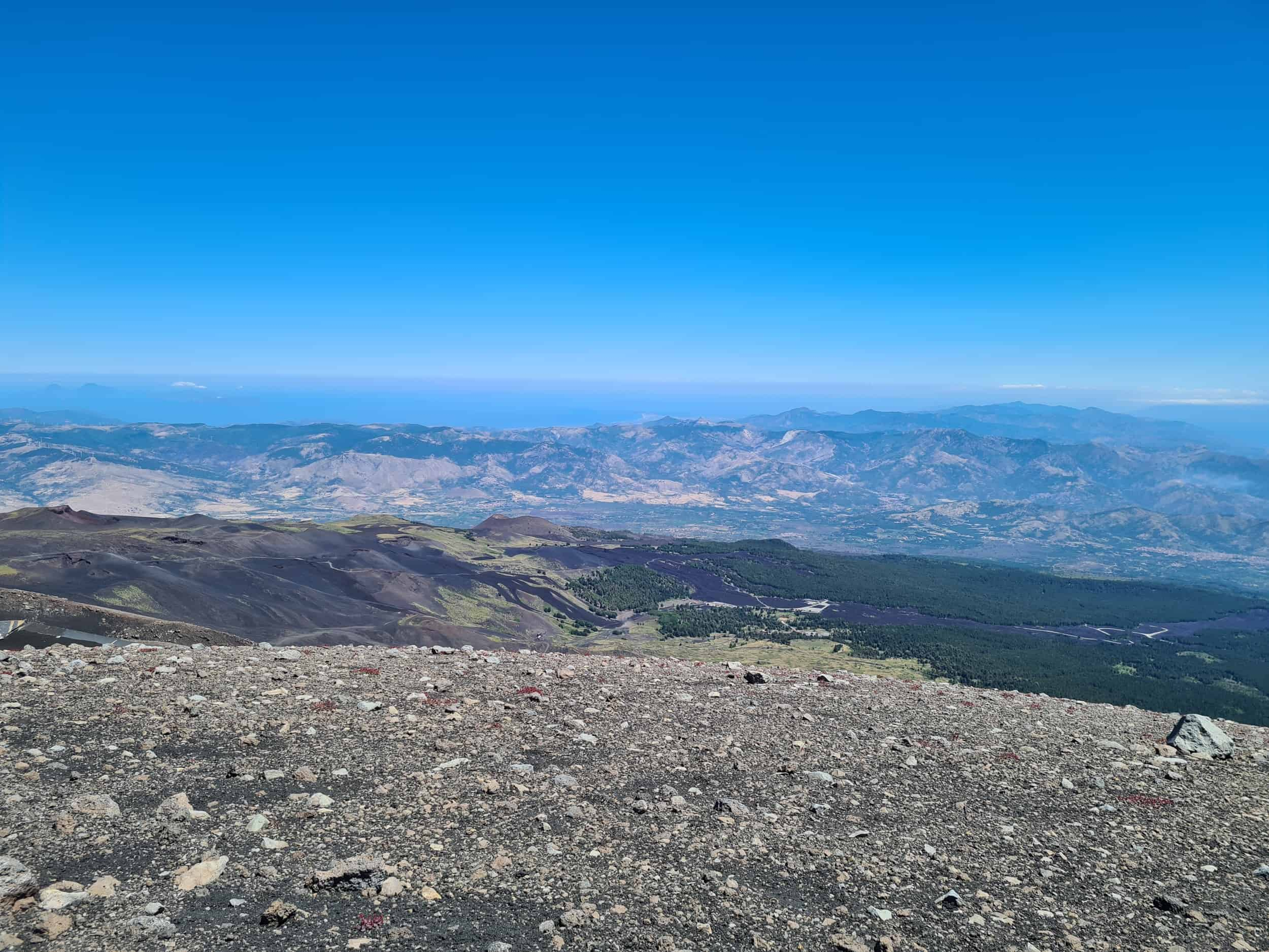 Uitzicht Etna Nord op 2900 m